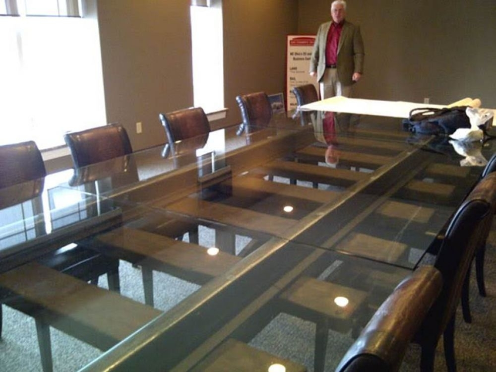 Table Made From Railway Sleepers, Rails And Glass With Railway Dining Tables (View 9 of 25)