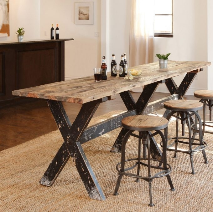 Table: Natural Dining Room Design With Narrow Dining Tables In Narrow Dining Tables (View 14 of 25)