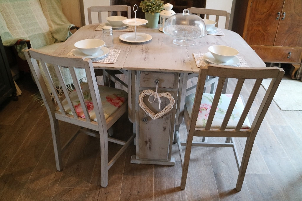 Table Shabby Chic – Loris Decoration Intended For Shabby Chic Cream Dining Tables And Chairs (Image 24 of 25)