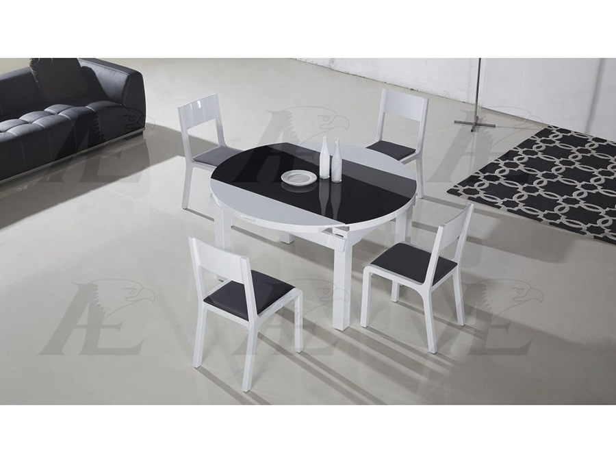 Table Top Extendable Dining Table Set In Black & White – Shop For Throughout Black Extendable Dining Tables Sets (Image 25 of 25)