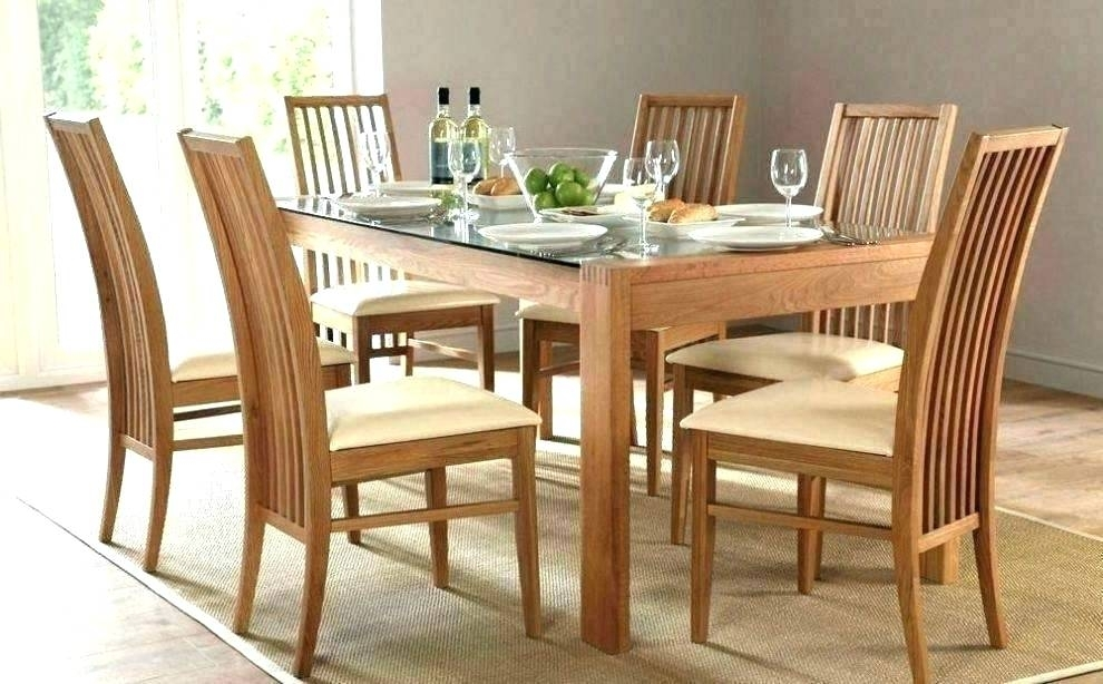 Table With 6 Chairs Round Dining Sets For 6 Round Wood Dining Table Inside Wooden Dining Tables And 6 Chairs (Image 24 of 25)