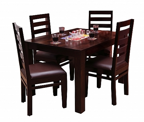 Tadashi Dining Set 6 Chair And Table Solid Sheesham Wood Perfect For Sheesham Wood Dining Chairs (Image 24 of 25)
