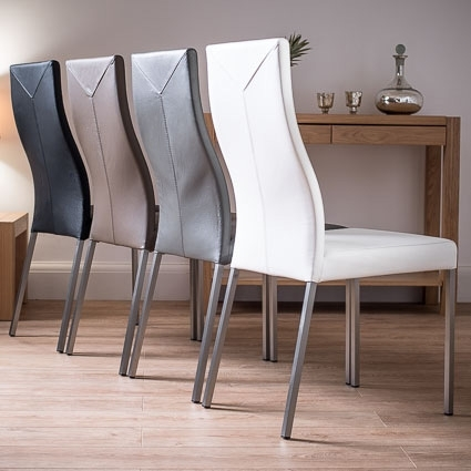 Take A Look At Our New Range Of Stylish, Contemporary Real Leather Intended For Real Leather Dining Chairs (View 4 of 25)