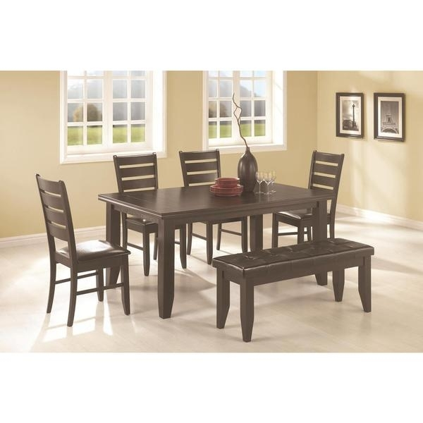 Talara 6 Piece Dining Set – Free Shipping Today – Overstock – 17742786 With Regard To Caden 7 Piece Dining Sets With Upholstered Side Chair (View 4 of 25)