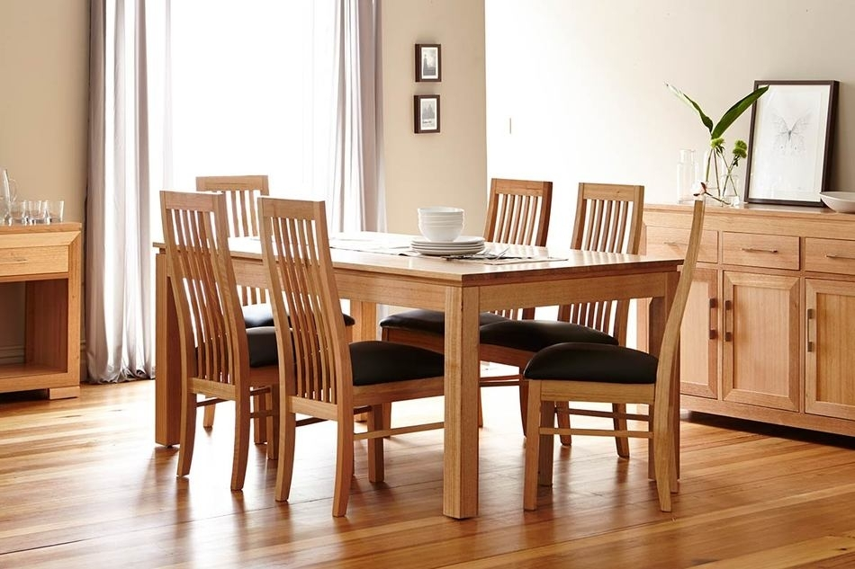 Tamworth Dining Suite <Br> Tassie Oak With A Natural Finish With Oak Dining Suite (Image 25 of 25)