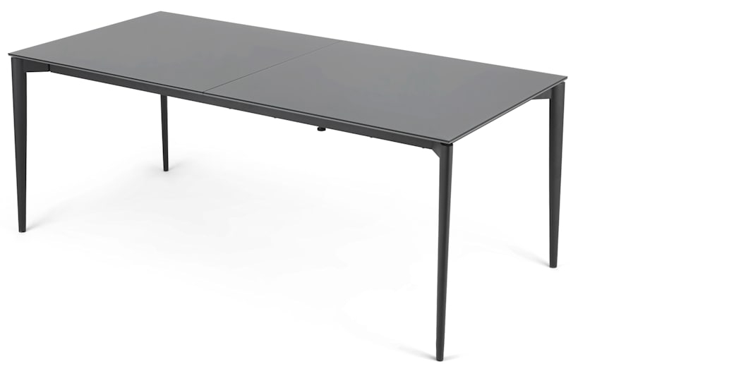 Tandil Extending Dining Table, Grey Glass | Made With Regard To Grey Dining Tables (View 20 of 25)