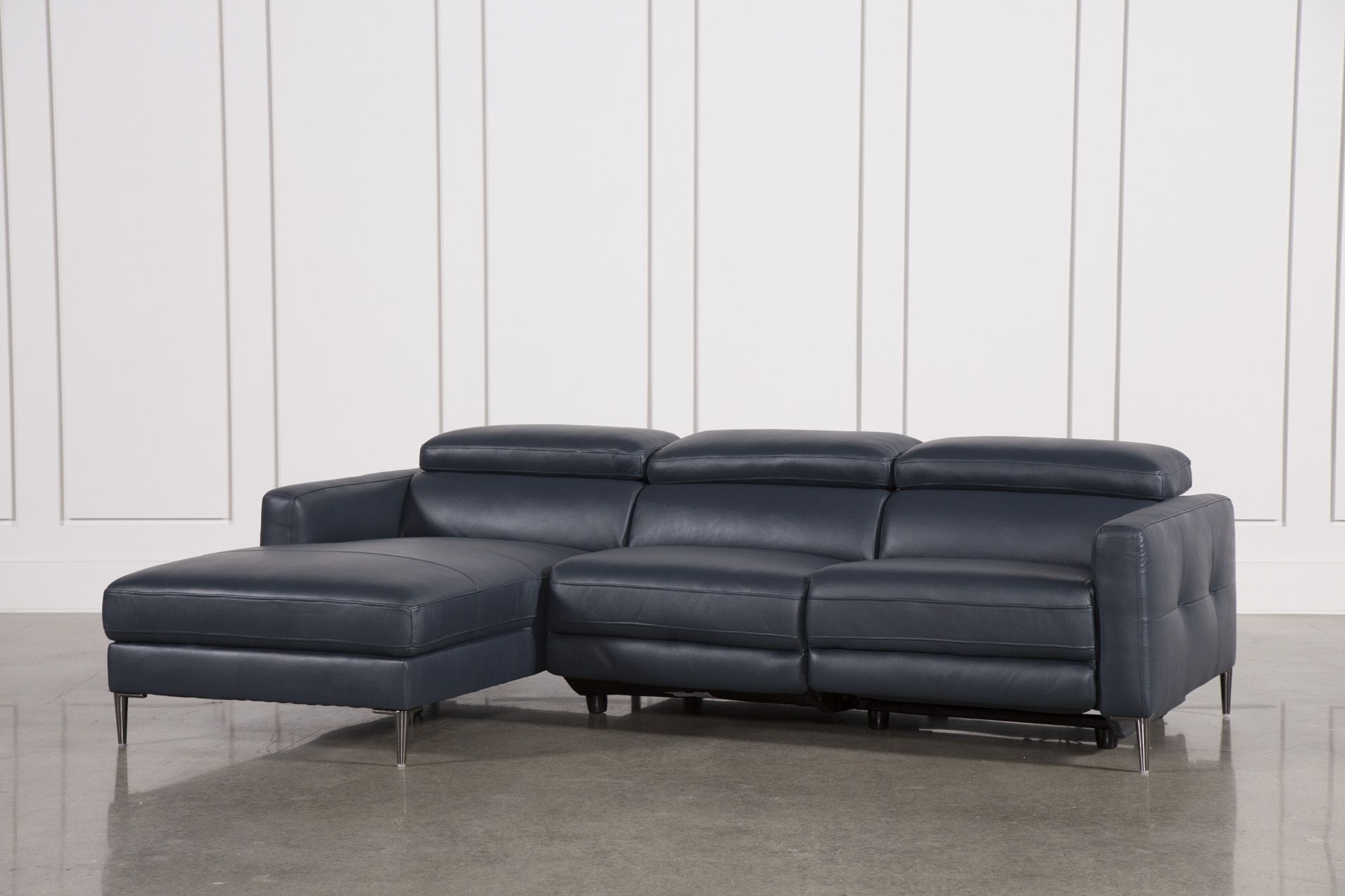 Tara Blue 2 Piece Left Facing Chaise Sofa | Products | Pinterest With Regard To Tenny Dark Grey 2 Piece Left Facing Chaise Sectionals With 2 Headrest (Image 22 of 25)