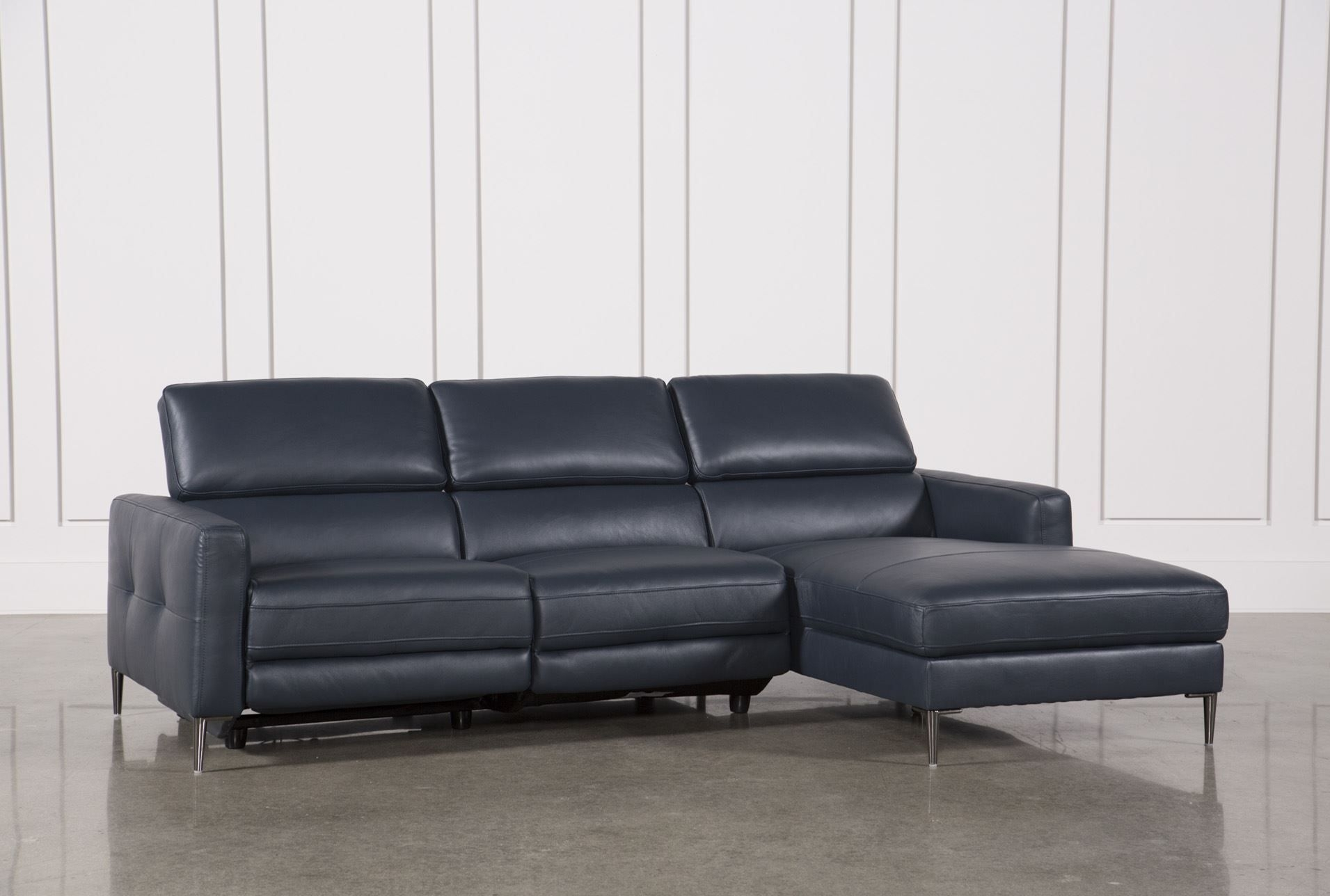 Tara Blue 2 Piece Right Facing Chaise Sofa | Chaise Sofa, Living Inside Tess 2 Piece Power Reclining Sectionals With Laf Chaise (View 5 of 25)