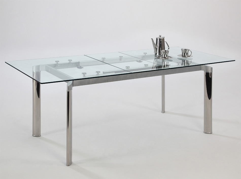 Tara Extendable Dining Tablechintaly In Extendable Glass Dining Tables (View 9 of 25)