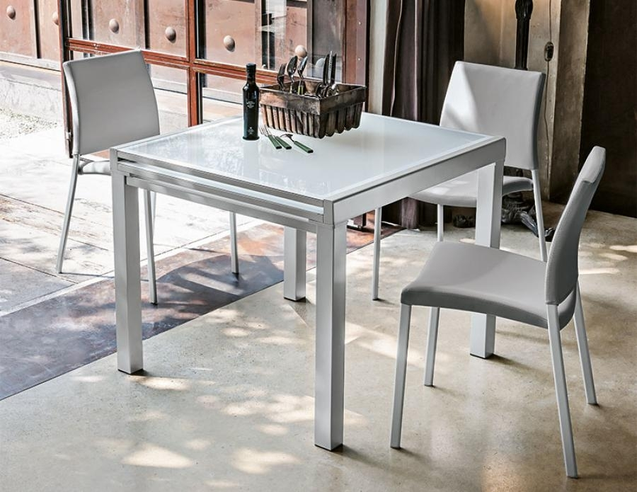 Target Point Contemporary Vega Square Extending Dining Table With Regard To Contemporary Extending Dining Tables (Image 23 of 25)