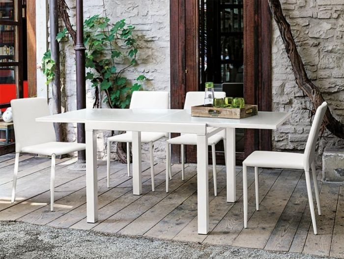 Target Point Vega Table | Contemporary Square Dining Table | White Intended For White Square Extending Dining Tables (Image 19 of 25)