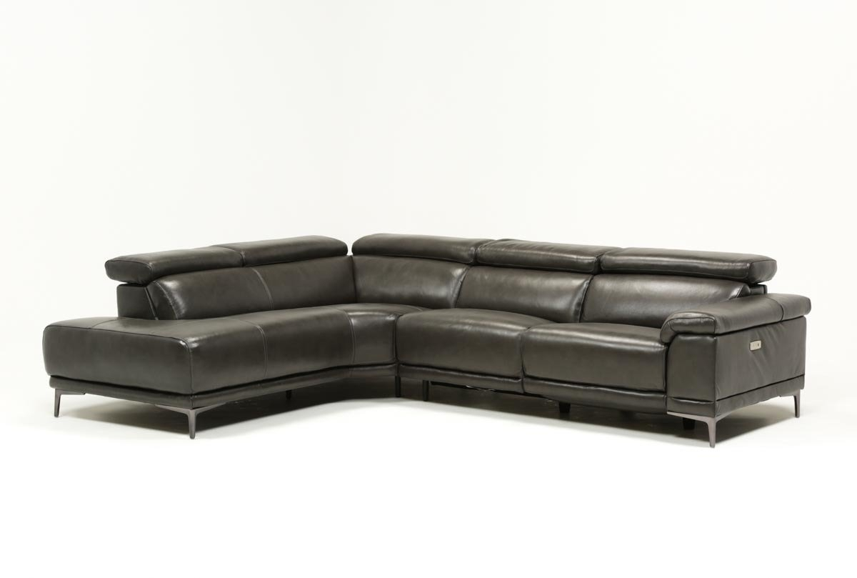 Tatum Dark Grey 2 Piece Sectional W/laf Chaise | Living Spaces within Tatum Dark Grey 2 Piece Sectionals With Laf Chaise