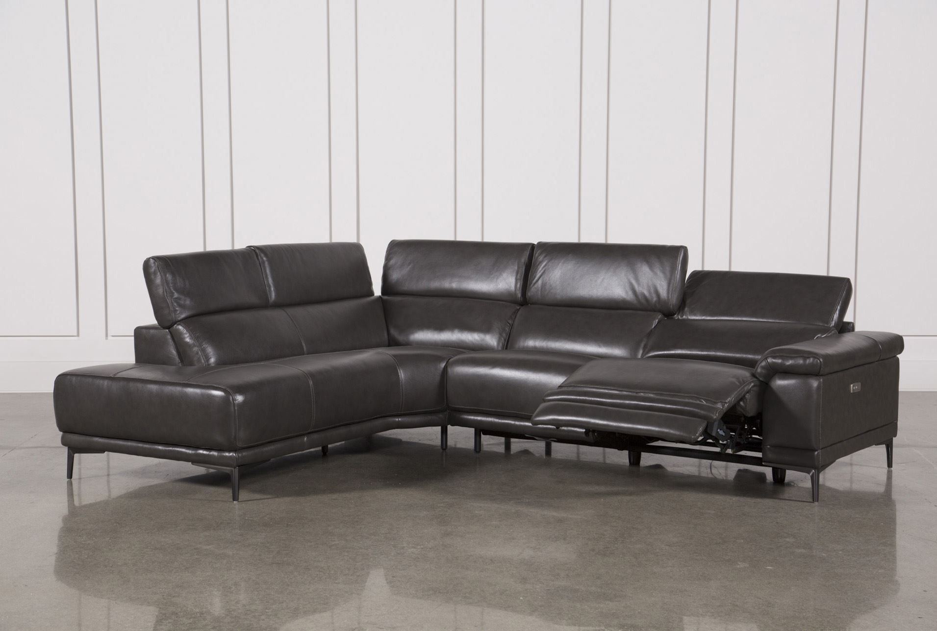 Featured Photo of Tatum Dark Grey 2 Piece Sectionals With Raf Chaise
