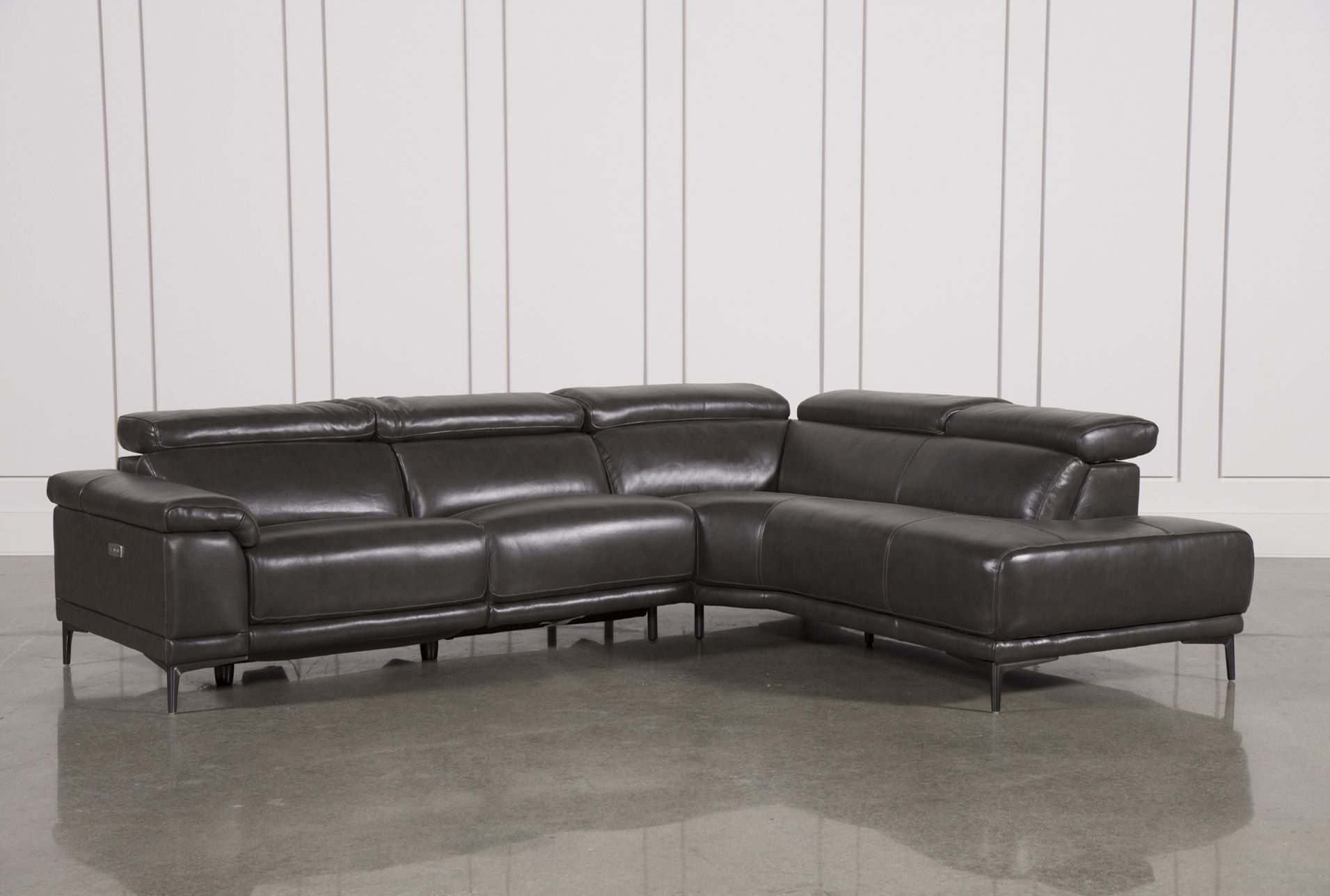 Tatum Dark Grey 2 Piece Sectional W/raf Chaise | New Apt | Pinterest Pertaining To Calder Grey 6 Piece Manual Reclining Sectionals (View 5 of 25)