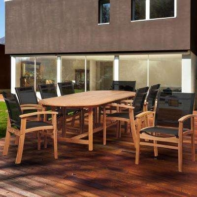 Teak – Patio Dining Furniture – Patio Furniture – The Home Depot Inside Outdoor Brasilia Teak High Dining Tables (Image 21 of 25)
