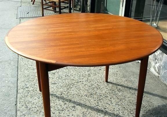 Teak Round Dining Table – Hammadhasan Throughout Round Teak Dining Tables (Image 22 of 25)