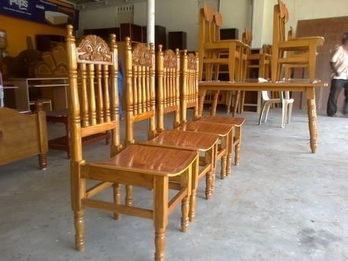 Teak Wood Dining Table And Chairs At Rs 15500 /no(S)   Dining Table Inside Dining Tables Chairs (Image 23 of 25)