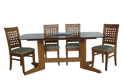 Teak Wood Dining Table Glass Top, Glass Dining Room Table, Glass With Wooden Dining Sets (Image 20 of 25)