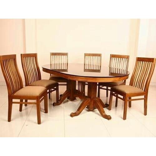 Teak Wood Dining Table Set At Rs 60000 /set   Sagvan Ki Dining Table With Regard To Dining Table Sets (Image 23 of 25)