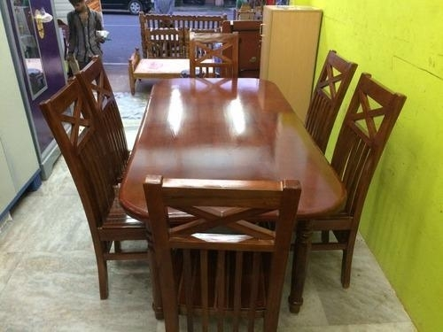 Teak Wood Dining Table Set With 6 Chairs At Rs 28000 /piece(S Pertaining To Wood Dining Tables And 6 Chairs (Image 25 of 25)