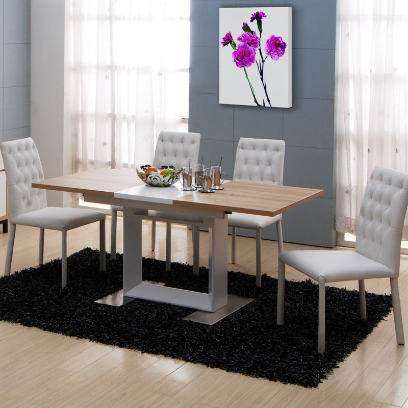 Telescopic Treasure House Modern Minimalist Dining Table Dinner Pertaining To Dining Tables And Six Chairs (View 16 of 25)
