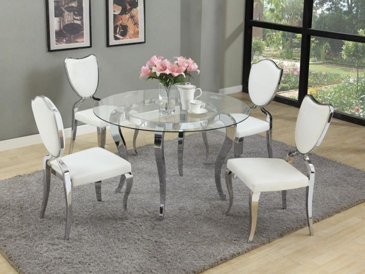 Terrific Round Glass Dining Tables Perth Room For Sale Di Silver For Perth Glass Dining Tables (Image 22 of 25)