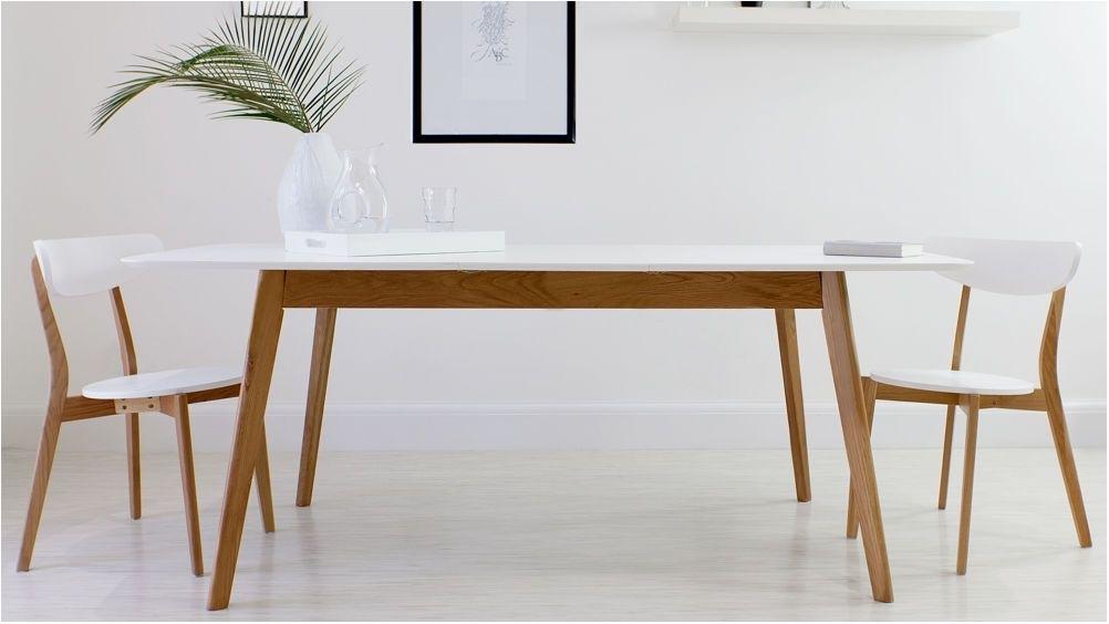 Terrific White Oak Table 8 Seater Extending Dining Table Extended with regard to White Dining Tables 8 Seater