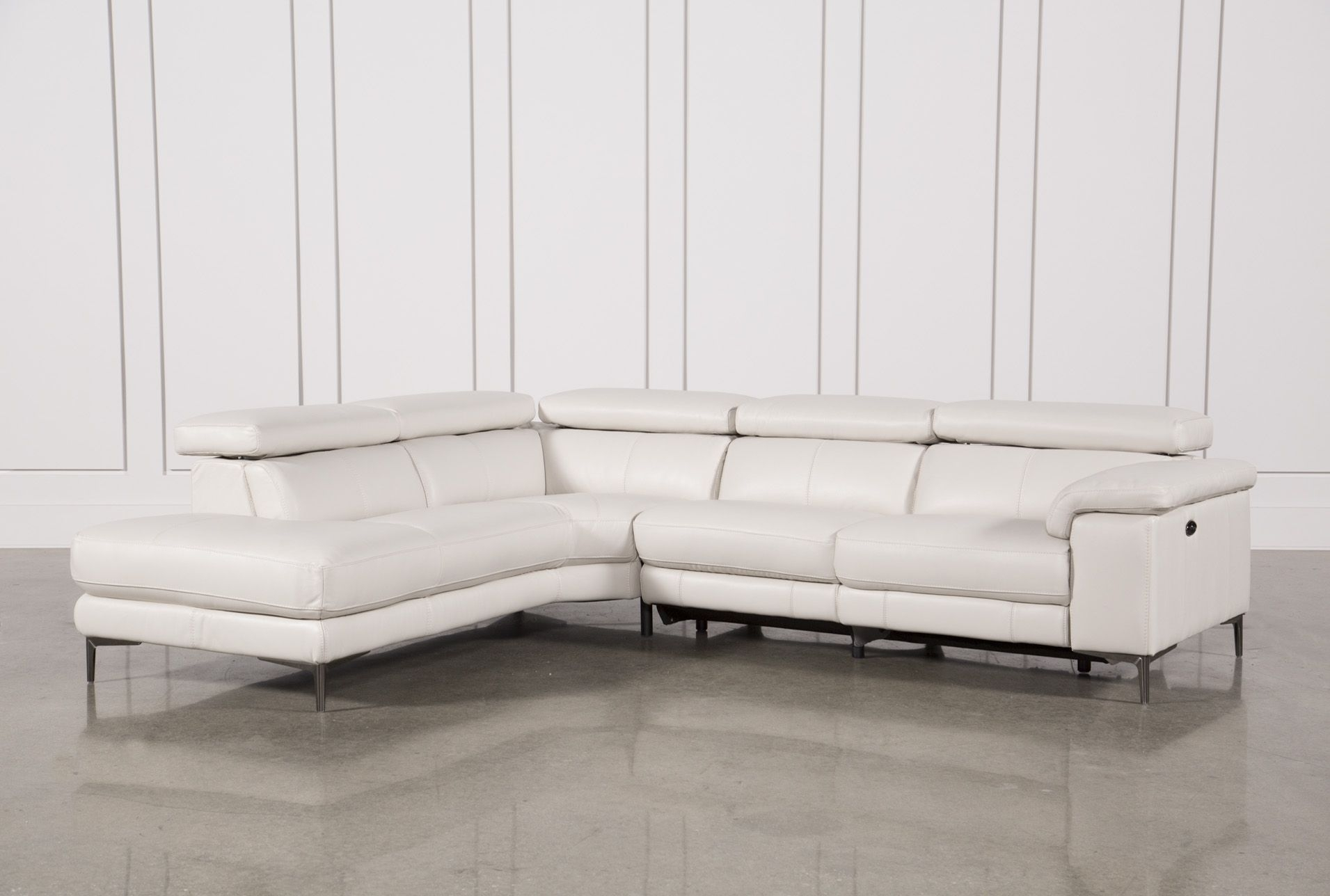 Tess 2 Piece Power Reclining Sectional W/laf Chaise | Reclining Within Kristen Silver Grey 6 Piece Power Reclining Sectionals (Image 23 of 25)