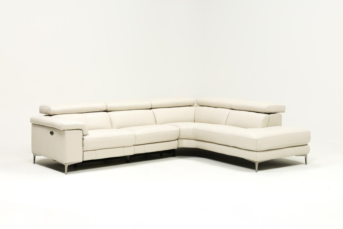 Tess 2 Piece Power Reclining Sectional W/raf Chaise | Living Spaces Within Clyde Grey Leather 3 Piece Power Reclining Sectionals With Pwr Hdrst & Usb (View 14 of 25)