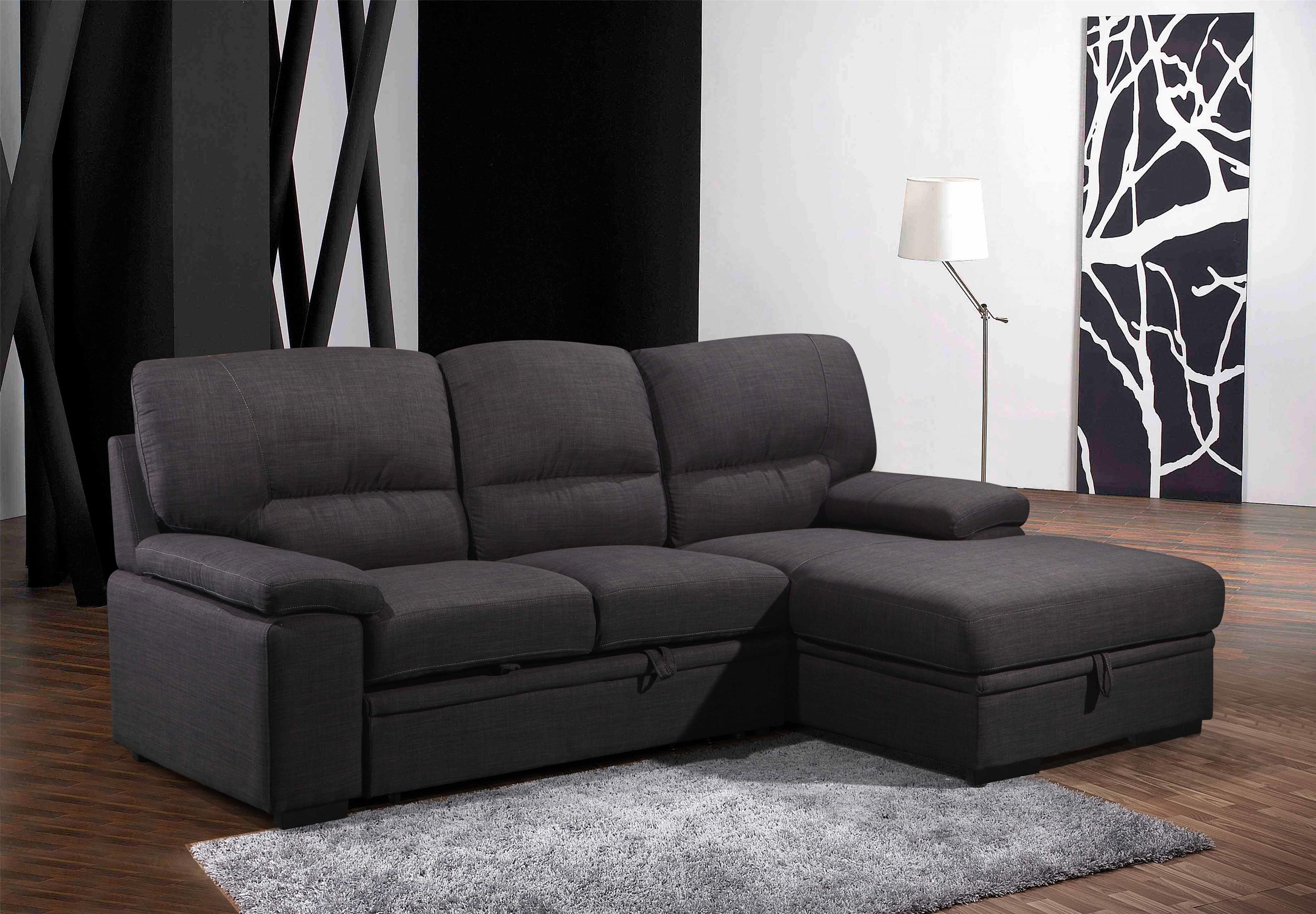 Tessaro 2 Piece Sleeper Sectional | Ruby Gordon Home | Sleeper Sofas With Regard To Tess 2 Piece Power Reclining Sectionals With Laf Chaise (Image 24 of 25)