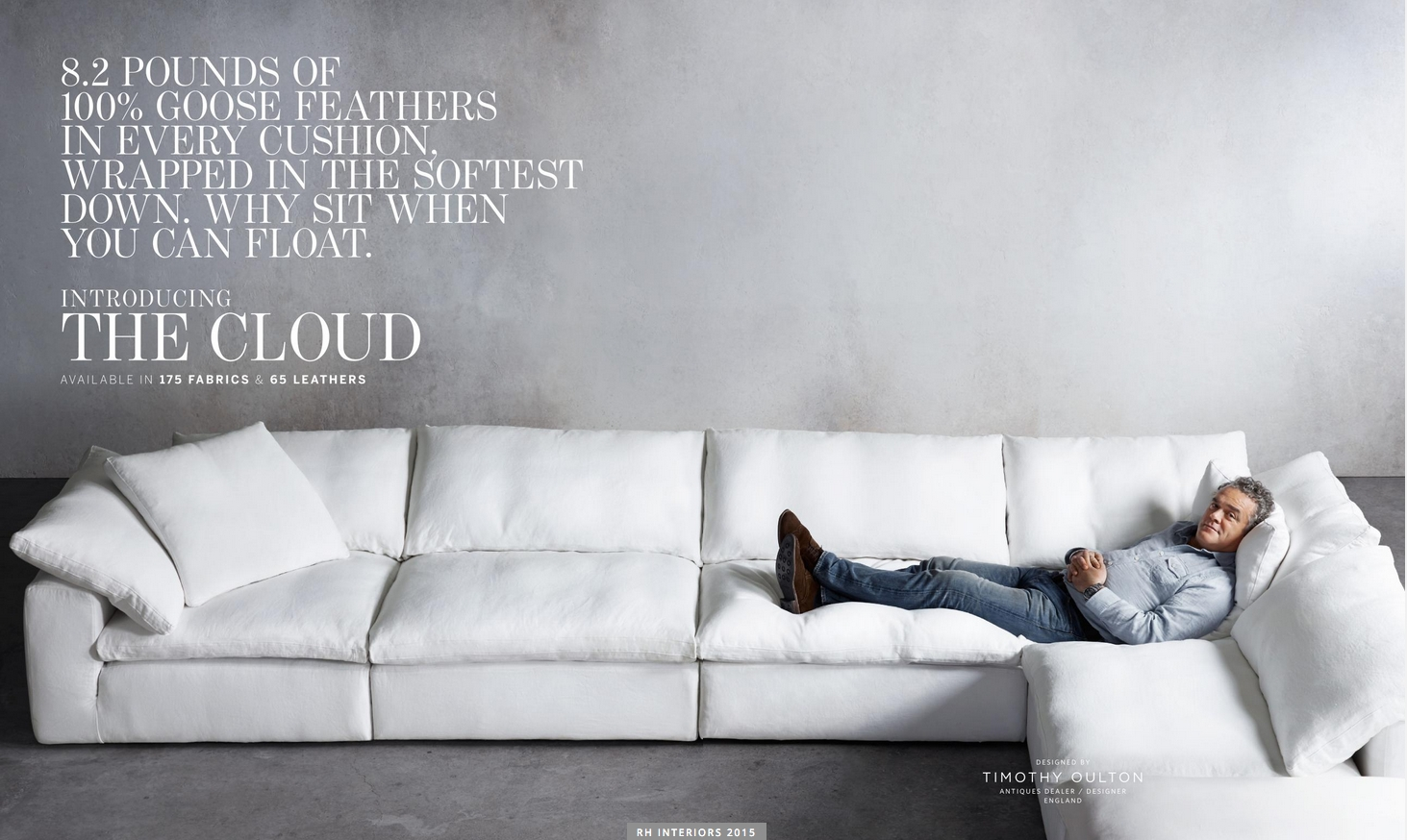 Test Road It Today! Love It! Gotta Have It! Restoration Hardware The Throughout London Optical Reversible Sofa Chaise Sectionals (Image 25 of 25)