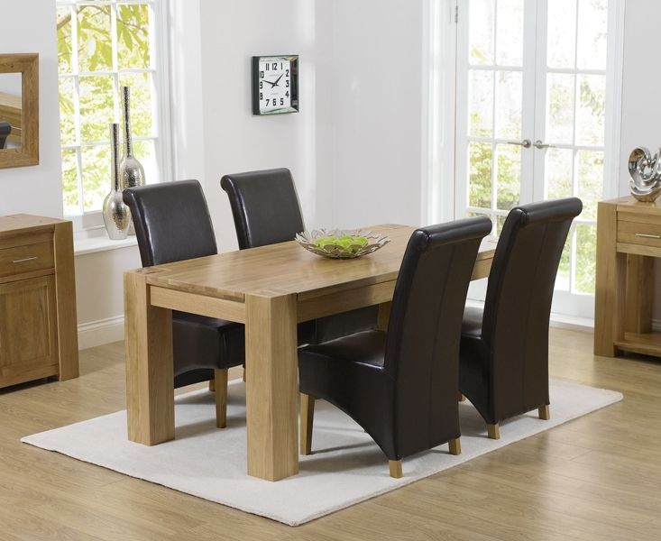 Thames 150Cm Oak Dining Table With Kentucky Chairs For 6 Seat Dining Tables (View 10 of 25)