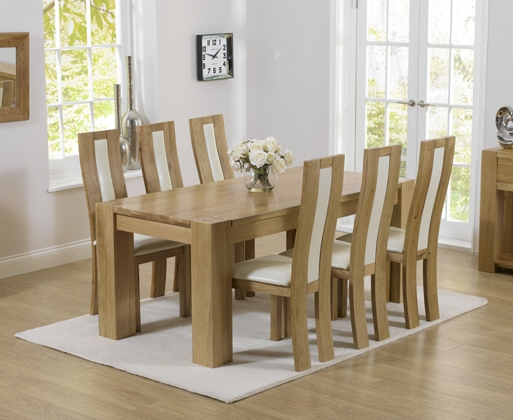 Thames 180Cm Oak Dining Table With Toronto Chairs With Regard To 180Cm Dining Tables (Image 22 of 25)