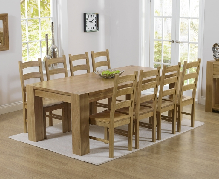 Thames 220Cm Oak Dining Table With Vermont Chairs In Solid Oak Dining Tables And 6 Chairs (View 3 of 25)