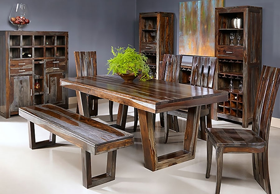 Thar Art Gallery::sheesham Wood Dinning Table 6 Chairs,sheesham Wood With Sheesham Dining Tables And Chairs (View 20 of 25)
