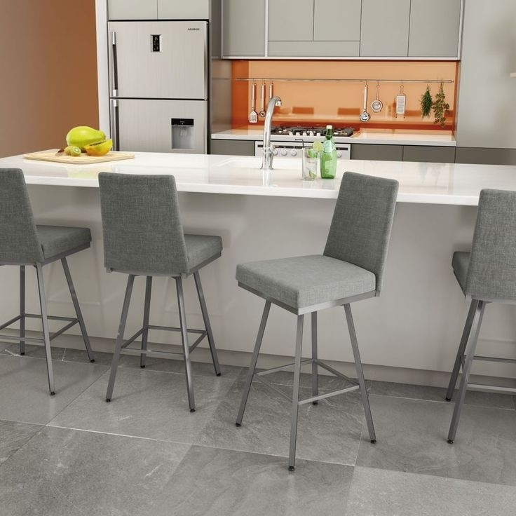 The 21 Best Bar Stools Images On Pinterest | Counter Stools, Swivel Within Jaxon Grey 5 Piece Extension Counter Sets With Fabric Stools (Image 22 of 25)