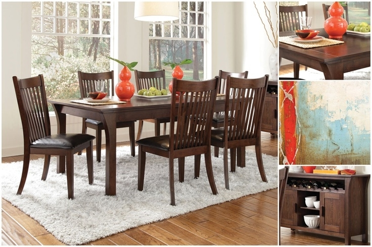 The 7 Best Thanksgiving Dining Images On Pinterest | Dining Room Inside Candice Ii 7 Piece Extension Rectangular Dining Sets With Slat Back Side Chairs (View 12 of 25)