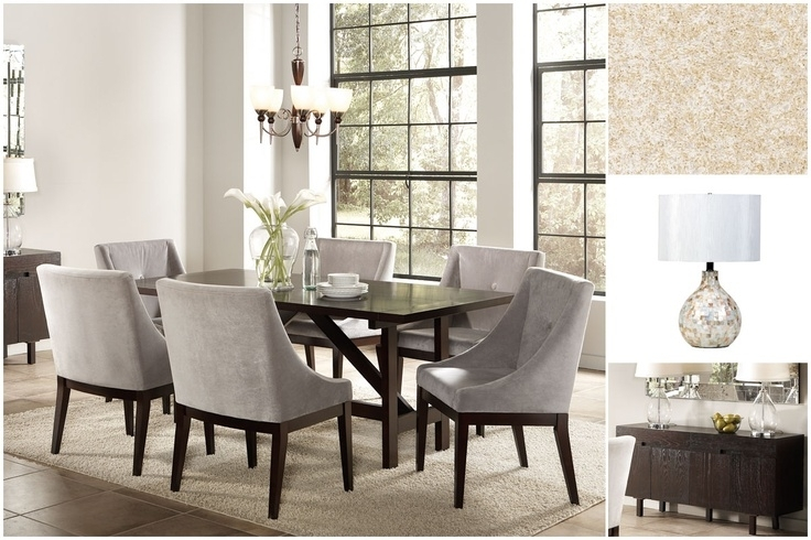 The 7 Best Thanksgiving Dining Images On Pinterest | Dining Room With Regard To Candice Ii 7 Piece Extension Rectangular Dining Sets With Slat Back Side Chairs (View 24 of 25)