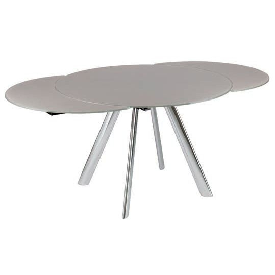 The Brembo Dining Table Is An Extending Round Glass Dining Table With Regard To Glass Round Extending Dining Tables (Image 25 of 25)
