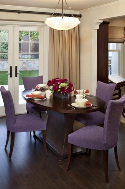 The Color Is On The Chair | Home Is Where The Heart Is Throughout Dining Tables And Purple Chairs (Image 23 of 25)