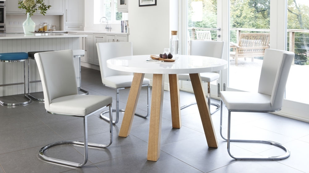 The Effectiveness Of The Round White Dining Table – Home Decor Ideas In White Circle Dining Tables (Image 18 of 25)