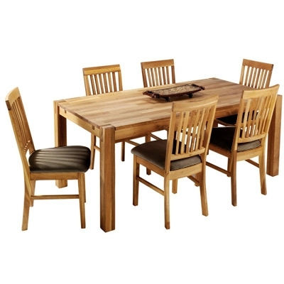 The Hannover Oak Dining Room Table And 6 Leather Chairs For Only £669 In Oak Dining Tables And Leather Chairs (View 20 of 25)