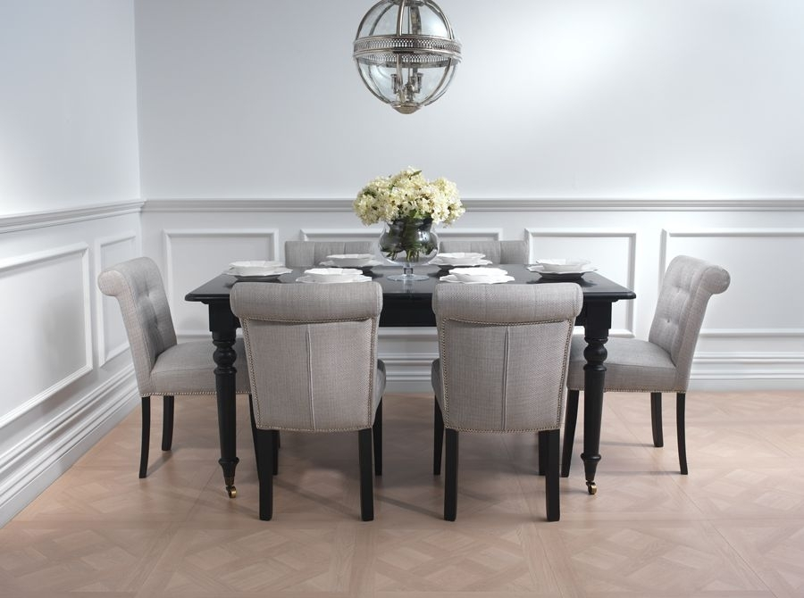The Harvard Black Extending Dining Table Is Made From Solid Hardwood Within Chatsworth Dining Tables (Image 23 of 25)