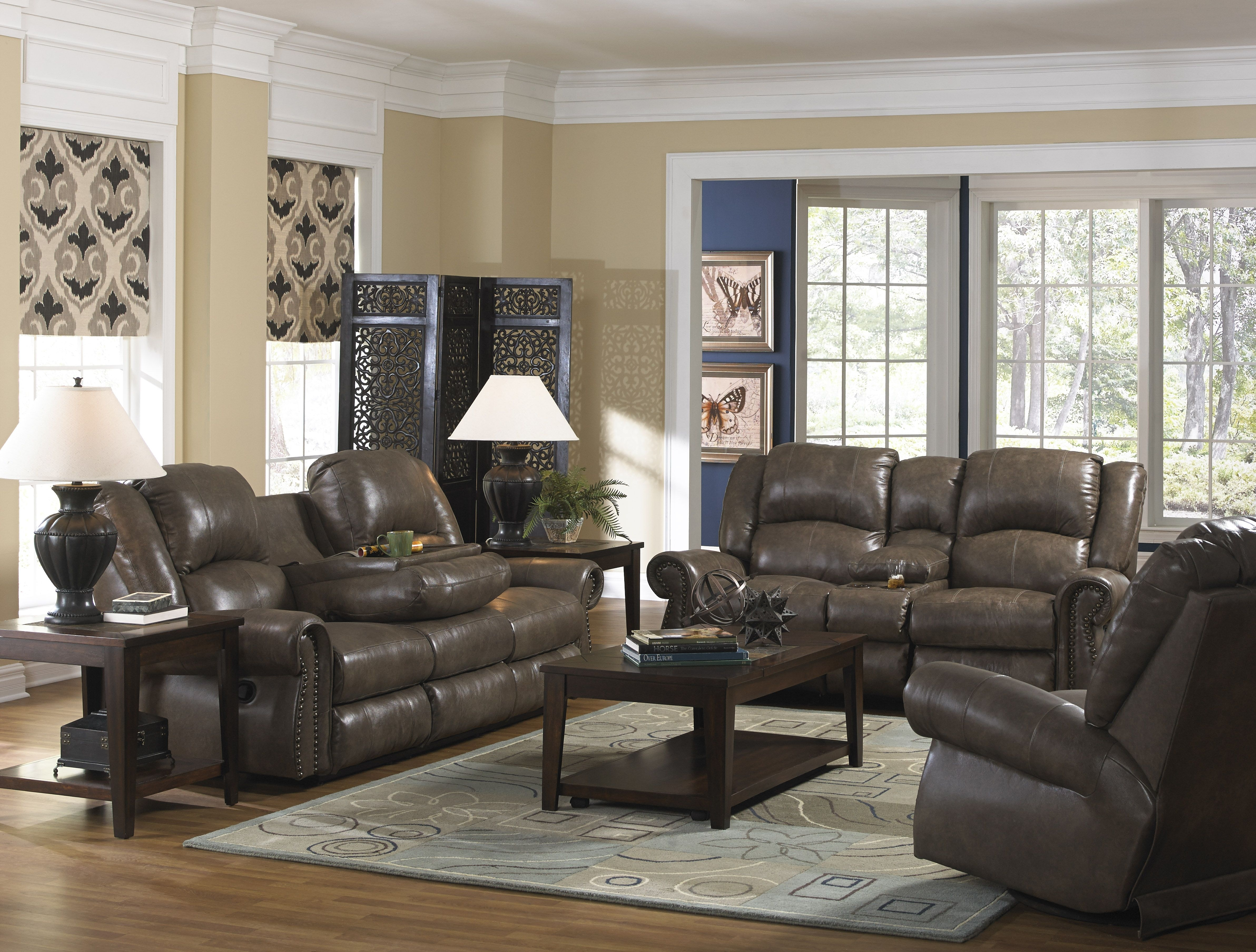 The Livingston Set In Luxurious Supple Top Grain Leather Is Pertaining To Waylon 3 Piece Power Reclining Sectionals (Image 17 of 25)