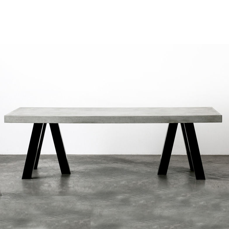 The London Dining Table – Steel And Concrete   Dining Room Table With Regard To London Dining Tables (Image 25 of 25)