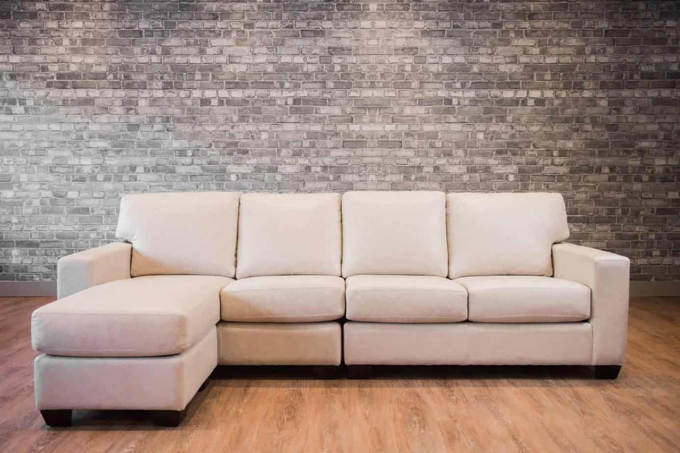 The Mesa Four Seat Leather Sectional Lhf | Canada's Boss Leather With Mesa Foam 2 Piece Sectionals (Image 22 of 25)