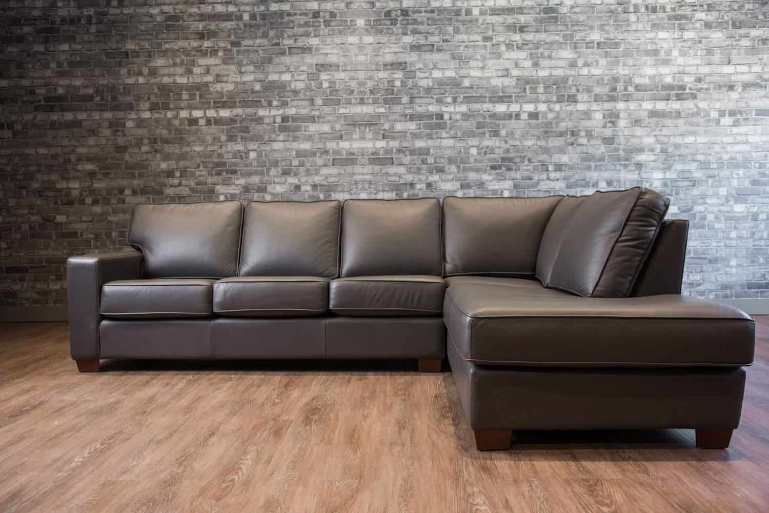 The Mesa Leather Sectional | Canada's Boss Leather Sofas And Furniture Intended For Mesa Foam 2 Piece Sectionals (Image 23 of 25)