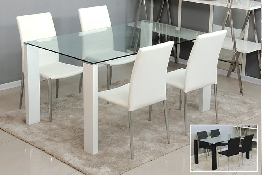 The Need For The Contemporary Glass Dining Table – Home Decor Ideas Inside White Glass Dining Tables And Chairs (Image 25 of 25)