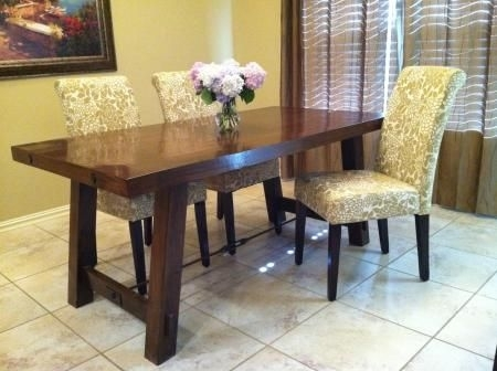 The Real Pottery Barn Benchwright Farm House Dining Table | Do It Throughout Barn House Dining Tables (Image 23 of 25)