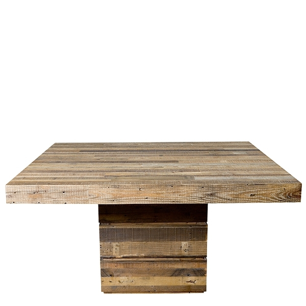 The San Quentin Tahoe Square Dining Table – Rustic Dining Table Intended For Square Dining Tables (View 18 of 25)